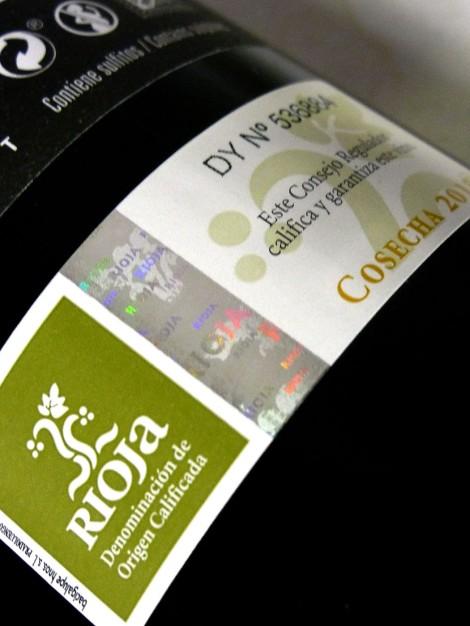 Sello de la D.O.Ca. Rioja Cosecha.