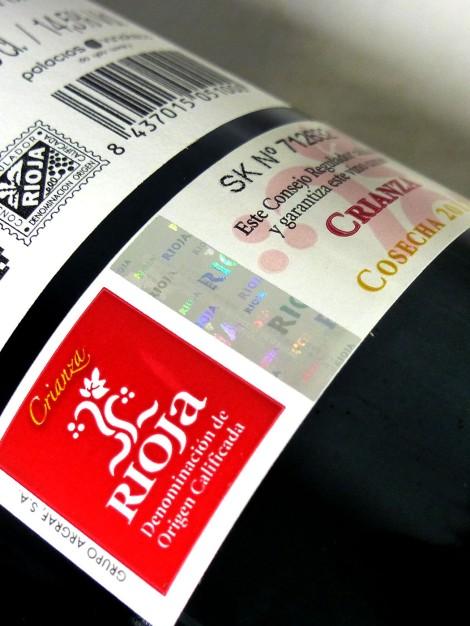 Sello de la D.O.Ca. Rioja Crianza.