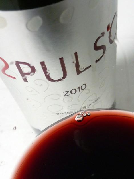 Detalle del vino 2 Pulso en la copa.