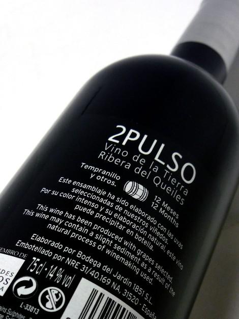 Contraetiqueta del vino 2 Pulso.