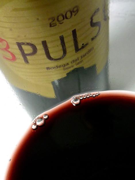 Detalle del color del vino 3 Pulso.