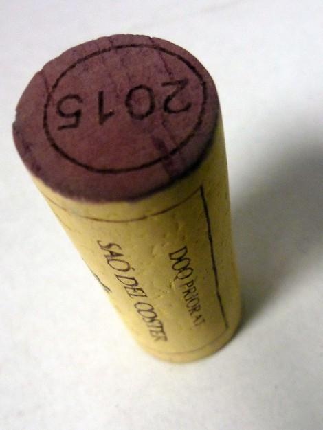 Tapón de corcho del vino Pim Pam Poom.