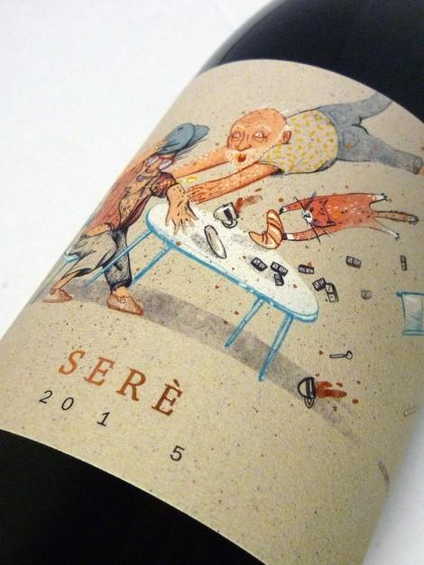 Etiquetado del vino Serè.