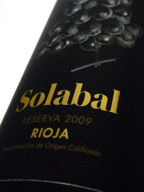 Etiquetado de Solabal Reserva.