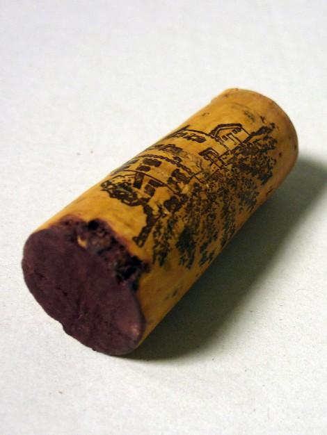 Tapón de corcho del vino Solabal Reserva.