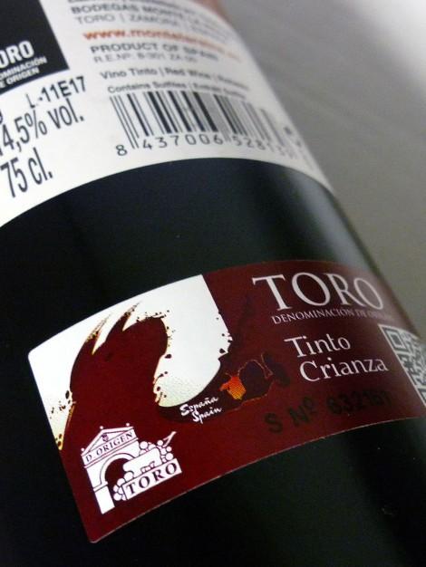 Sello de la D.O. Toro en la botella de Castillo de Monte la Reina Edición Limitada.