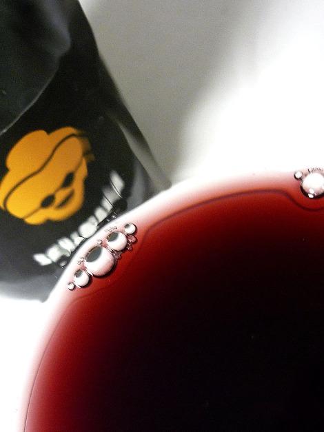Detalle del vino Señamaría en la copa.