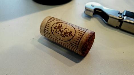 Tapón de corcho del vino Beramendi Cepas Viejas.