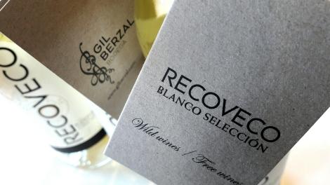 Tarjeta del vino Recoveco Blanco Selección.