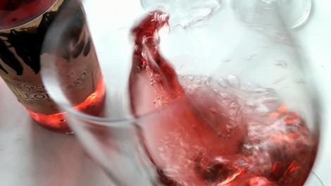 """Secretum Leonardi Rosado """"saltando"""" en la copa mostrándonos sus tonos de color."""
