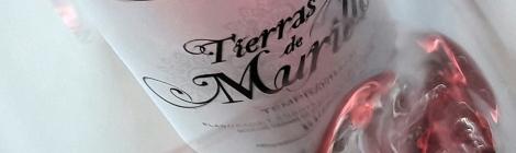 Tonos de color del vino Tierras de Murillo Rosado al moverse por la copa.