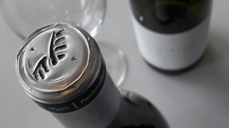 Detalle de la cápsula del vino Pardevalles Albarín.