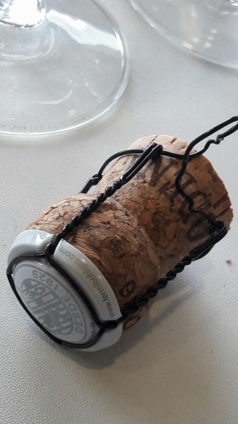 Tapón de corcho del cava Bohigas Rosat.