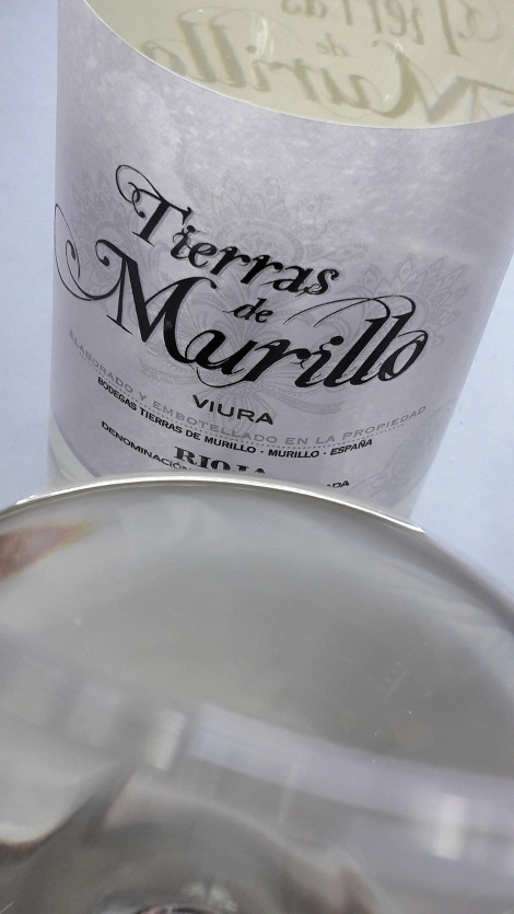 Detalle del color del vino Tierras de Murillo Viura.