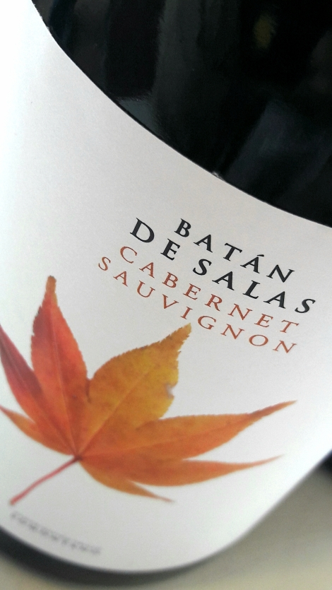 El etiquetado del vino Batán de Salas Cabernet Sauvignon.
