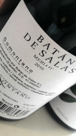 Contra etiqueta del vino Batán de Salas Merlot