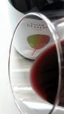 Detalle del ribete del vino Batán de Salas Syrah.