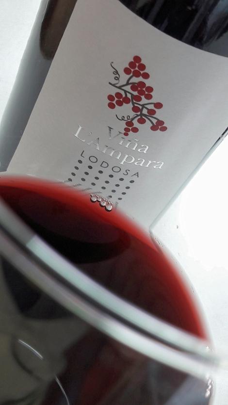Viña L´Ampara Tempranillo, el vino en la copa.