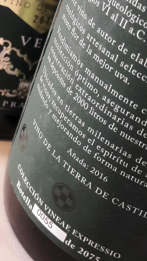 La botella número 55 de 2075 botellas.