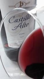 Detalle del Ribete del vino Castillo Alto