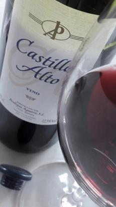 La copa y el vino.