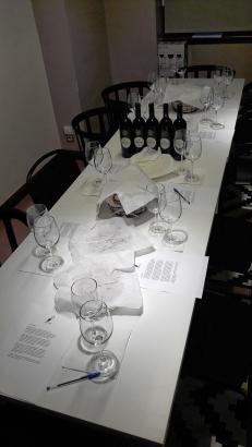 "La ""mesa"" preparada con las viandas."