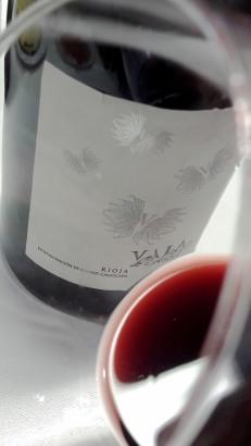 El ribete del vino Vala de Solabal.