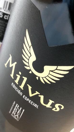 Etiquetado del vino Milvus Edición Especial