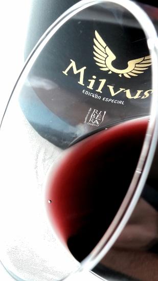 El ribete del vino Milvus Edición Especial.