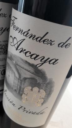 Etiquetado del vino Fernández de Arcaya Selección Privada