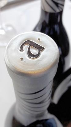 Detalle de la cápsula de la botella Luzia de Ripa.