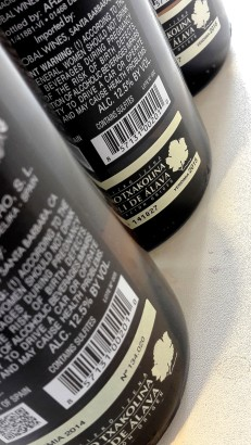 Las tres añadas del vino Luzia de Ripa.