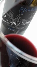 El vino Basilio Berisa Graciano en la copa.