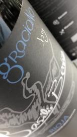 Etiquetado del vino Basilio Berisa Graciano.