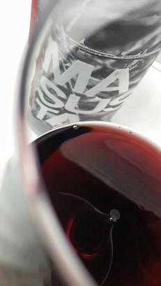 El color del vino Masusta Garnacha.
