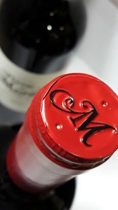 Detalle de la cápsula del vino Tierras de Murillo Crianza.