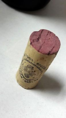 Detalle del tapón de corcho del vino Tierras de Murillo Crianza.