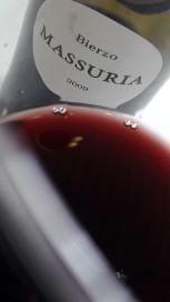 Detalle del vino Massuria 2009 en la copa.