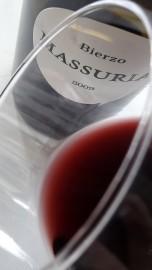 El ribete del vino Massuria 2009.